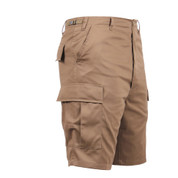 Coyote Brown Military BDU Shorts - Right Side View