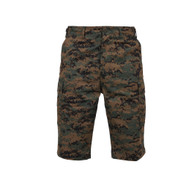 Rothco Woodland Digital Long Length BDU Shorts - Front View
