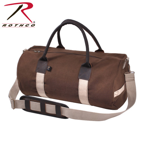"Deluxe 19"" Canvas & Leather Gym Bags - Rothco View"