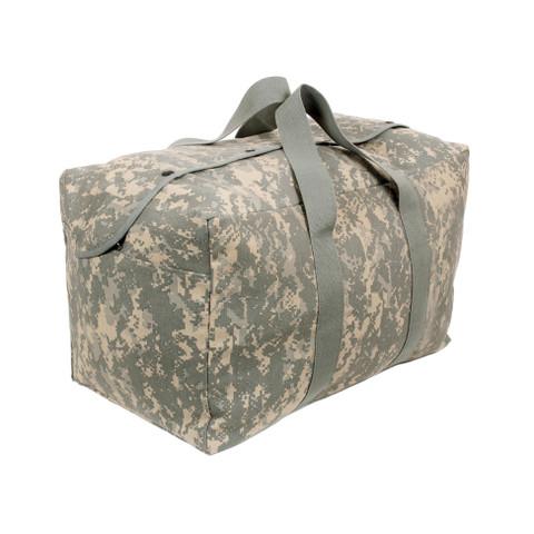 Digital Camo Canvas Parachute Cargo Bag - Angle Side View 1