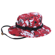 Red Digital Camo Boonie Hat - Full View