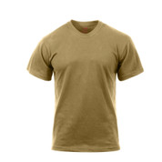 Brown Moisture Wicking T Shirt - Front View