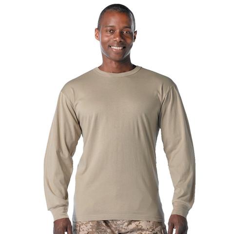 Desert Khaki Long Sleeve T Shirt - View