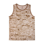 Desert Digital Camo Tank Tops