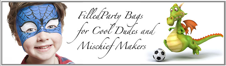 boys filled party bags