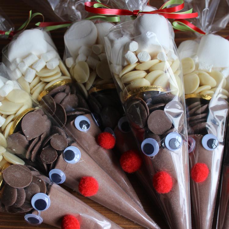 Reindeer Hot Chocolate Cones