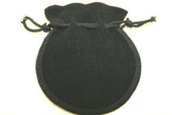 black suedette pouch