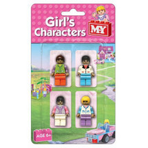 Girls Characters Building Blocks