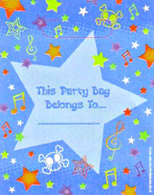 Expressions Stars Party Loot Bag
