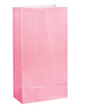 Pastel Pink Paper Party Bag