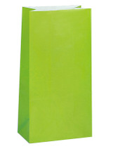 Lime Green Paper Party Bag