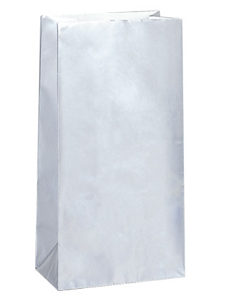 Silver Metallic Paper Party Bag