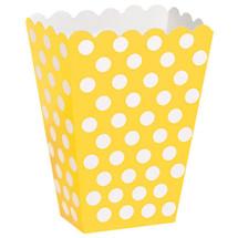 Sunflower Yellow Polka Dot Party Treat Box