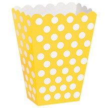 Sunflower Yellow Polka Dot Party Treat Box
