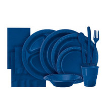 Navy Blue Plastic Party Tableware