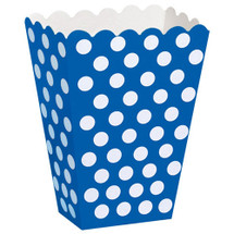 Royal Blue Polka Dot Treat Box for Girls Parties