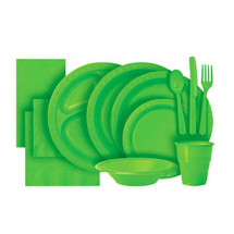 Lime Green Plastic Party Tableware