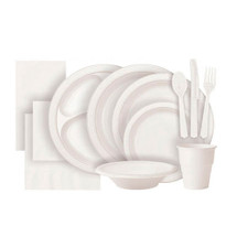 White Plastic Party Tableware