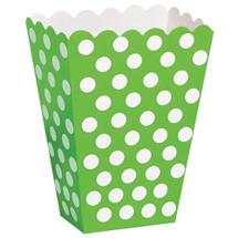 Green Polka Dot Treat Box for Girls Parties
