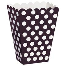 Black Polka Dot Treat Box for Parties