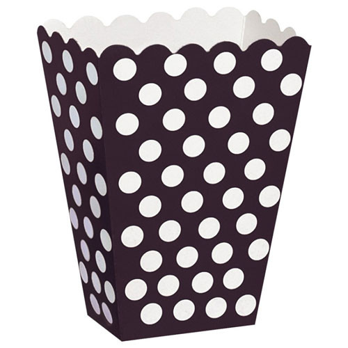 Black Polka Dot Treat Box for Parties