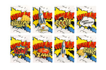 Comic Strip Party Badges