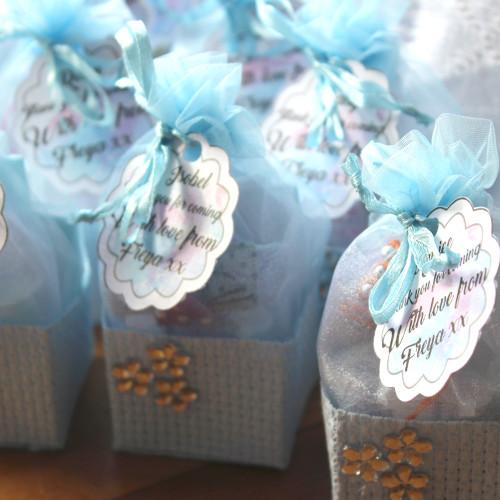 Blue  Favour Baskets