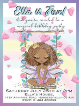 Magical Fairy Swing (A) Party Invitation
