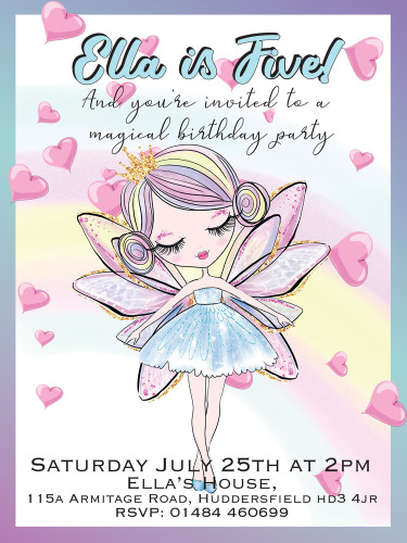 Dancing Fairy Party Invitations