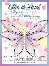 Fairy Wings Party Invitations