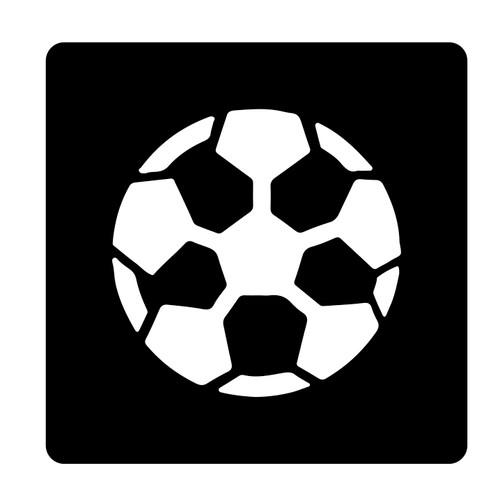 Glitter Tattoo Football Stencil