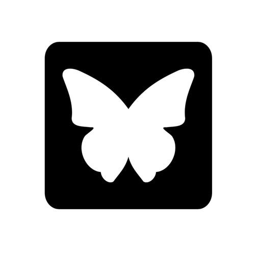 Butterfly D1 Glitter Tattoo Stencil