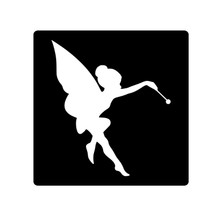 Glitter Tattoo Supplies: Fairy D1 Stencil
