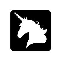 Unicorn Glitter Tattoo Stencil