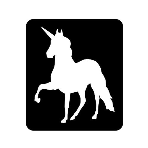 Unicorn D2 Glitter Tattoo Stencil