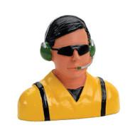 Hangar 9 1/4 Pilot ~ Civilian w/Headets, Mic & Sunglasses ~ 9125