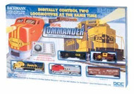 Bachmann HO Scale DCC On Board Digital Commander (Santa Fe & Union Pacific) Deluxe Train Set - 00501