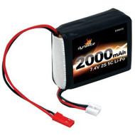Dynamite 7.4V 2000mAh 2S 5C LiPo Receiver Pack: 1/8 - 1419 ^