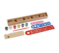 Brooklyn Peddler My Wooden Whistle and Wooden Train Painting Kit - 00036