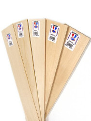 Midwest Basswood Sheets 3/32x2x24 inches (15 Pieces) - 4112