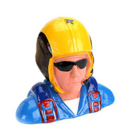 Hangar 9 1/4 Pilot, Civilian Aerobatic Helmet, w/Mic & Sunglasses ~ 9124