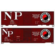 Accurail HO Kit 40' Steel Combo Door Box, NP (2) ~ 1212
