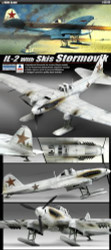 Academy 1/48 IL-2 Stormovik Single Seater with Skis Airplane Model Kit - 12286