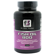F3 Nutrition, Fish Oil 800, Lemon, 60 Softgels