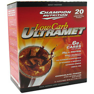 Champion Nutrition, Low Carb Ultramet, Chocolate Fudge, 20 - 2 oz (56 g) packets 40 oz (2.5 lbs) 1.13 kg
