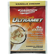 Champion Nutrition, Low Carb Ultramet, Vanilla Cream, 60 - 2 oz (56 g) packets [2.47 lb (1.12 kg)]