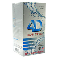 4D Supplements, 4D Clean Energy, Fruit Punch, 25 Stick Packs