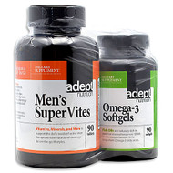 Adept Nutrition, Men's Supervites, 90 tablets/Omega-3 Softgels, 90 Softgels,
