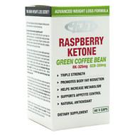 4 Dimension Nutrition, Raspberry Ketone + Green Coffee Bean, 60 V Caps, 60 V Caps