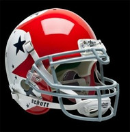Air Force Falcons Schutt Authentic XP Full Size Helmet - Alternate Helmet 1 w/ Blue Stars